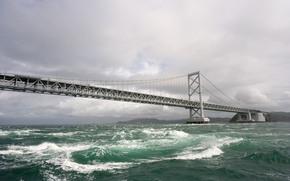 water, Bridge, sky, wave
