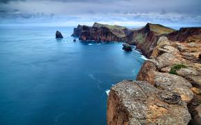 португалия, скалы, океан