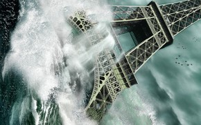 Sea, wave, tower