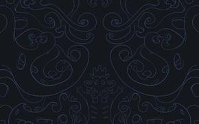 scarabocchi, curve, Blu