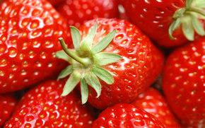 клубника, ягоды, еда, красный, лето