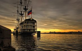 river, ship, St. Petersburg, Peter