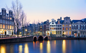Netherlands, river, home, Lights