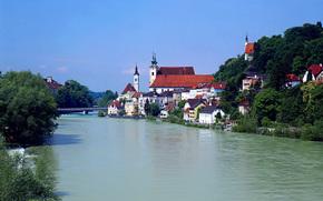 Austria, casa, fiume