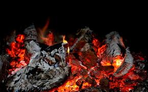 Kohlenstoffe, Feuer, Verfall, Temperatur