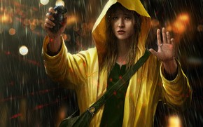 girl, mood, grenade, danger, despair