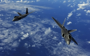 two, military, Aircraft, flight