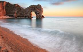 praia, costa, pedras, paraso, rochas, arco, papel de parede, mar, acalmar