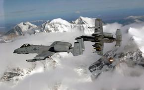 самолёты, горы, снег, полёт