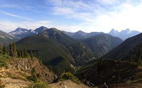 горы, небо, обои для рабочего стола