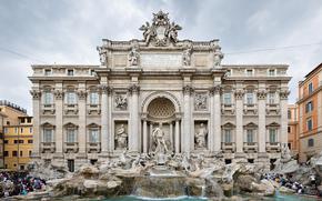 building, fountain, Sculpture
