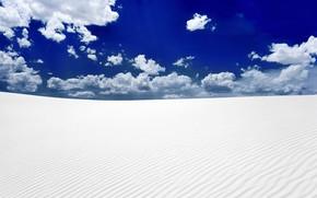пустыня, песок, небо
