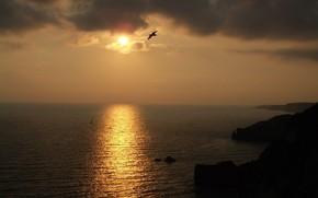 ночь, солнце, закат