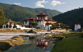 sergey parti, fiume, natura, casa, paesaggio