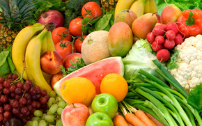 fruit, vegetables, food, color, summer