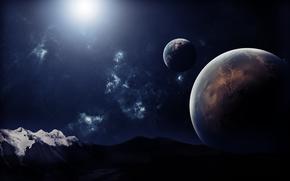 地球, 天空, 山