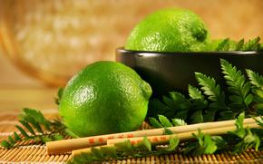 зелёный, лайм, китайские палочки