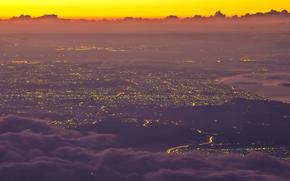 City, Fuji, Wallpaper
