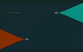 минимализм, самолёты, обои