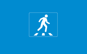 minimalismo, cartello stradale, creativo, uomo, zebra, peshihodny transizione, blu, attenzione