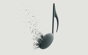 musica, nota, musica, chiave di violino, esplosione