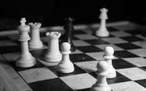 chess, black, white