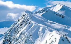 горы, снег, скалы