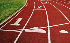 sport, traccia, calore, correre, linea, posto, erba, carta da parati