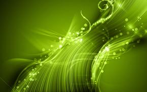 luce, carta da parati, verde, astrazione
