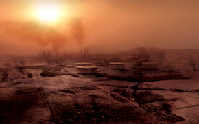 smog, sole, distruzione, piante, Area Industriale