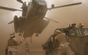helicopter, soldiers, transportation