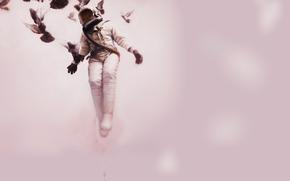 astronauta, Las palomas, vuelo