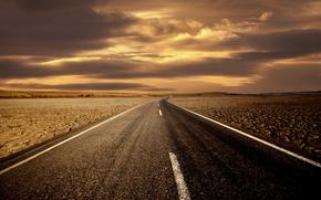 paesaggio, carta da parati, strada, vista, cielo, Hills, orizzonte, cartello stradale, disposizione