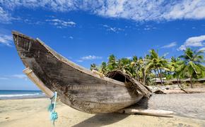 landscape, Wallpaper, photo, paradise, summer, Hawaii, Sea, ocean, water, beach, coast, Coast, sand, boat