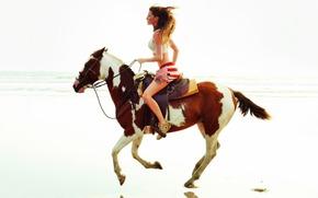 лошадь, модель, голоп, экстримально, романтично