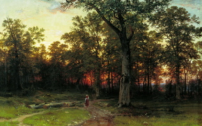 Shishkin, forest night, picture