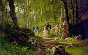 шишкин, в лесу, картина