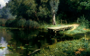Polenov, overgrown pond, picture