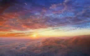 nuvole, alba, cielo