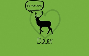 鹿, 绿色, 爱, 文字游戏