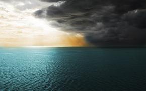 las nubes, las nubes, Paisajes, mar, agua, ocano, cielo, viento