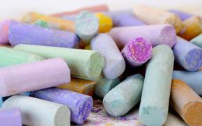 мелки, цветные, рисование, пастель