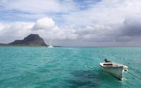 ocean, Coast, yacht, boat