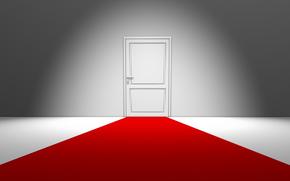 stile, minimalismo, creativo, porta, porte, casa, camera