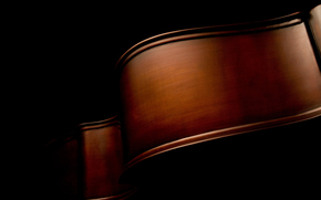макро фото, музыкальные инструменты, чёрный, изгибы