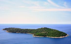 verano, mar, isla, Croacia