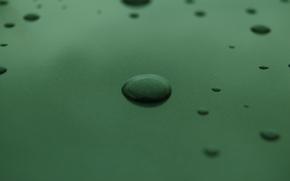 Macro, gocce, minimalismo, verde, carta da parati, sfondo