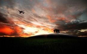 самолёты, авиация, техника, транспорт, аэропорты, пейзажи, фото, небо