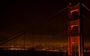 de, lugar, foto, Papel pintado, Puentes, noche, Amrica, ver