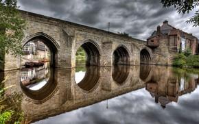 river, Bridge, home